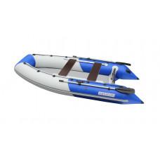 Лодка надувная ПВХ Aquilon 360, сине-серая, пол надувной низкого давления