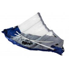 Тент носовой для лодки Флагман 350, серо-синий