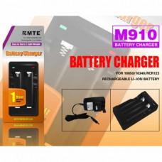 Зарядное устройство для элементов в комплекте с двумя аккумуляторами 18650 M910