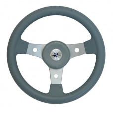 Рулевое колесо DELFINO обод серый,спицы серебряные д. 310 мм