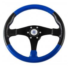 Рулевое колесо AMALFI обод черносиний, спицы черные д. 355 мм