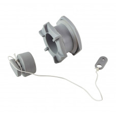 Клапан сливной для лодки ПВХ h18мм, серый