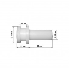 Втулка с фланцем, пластиковая 17х35 мм