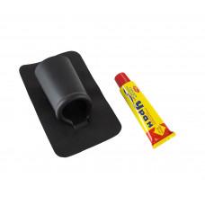 Подставка под удочку на подложке для надувной лодки, черная