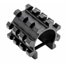 Хомут с тремя планками Picatinny для гладкоствольных ружей на трубчатый магазин. ADP-TRIR-140