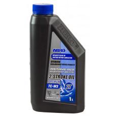 Масло ABRO API TC-W3 Premium 2-х тактное полусинтетика, 1 л