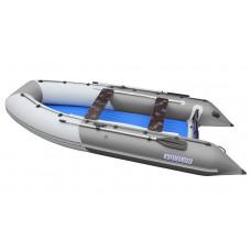 Лодка надувная ПВХ Aquilon 430, серо-белая, пол надувной низкого давления
