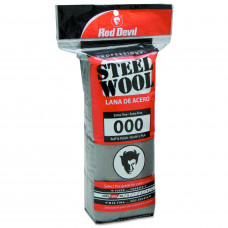 Стальная вата Red Devil Steel Wool 000 Extra Fine. Упаковка - 16 шт.