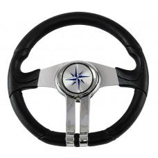 Рулевое колесо BALTIC обод черный, спицы серебряные д. 320 мм