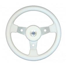 Рулевое колесо DELFINO обод белый,спицы серебряные д. 310 мм