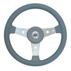 Рулевое колесо DELFINO обод серый,спицы серебряные д. 340 мм