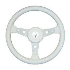 Рулевое колесо DELFINO обод белый,спицы серебряные д. 340 мм
