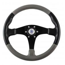 Рулевое колесо AMALFI обод черносерый, спицы черные д. 355 мм Volanti Luisi