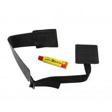 Держатель вещей универсальный для надувной лодки, черный(накладки+лента)