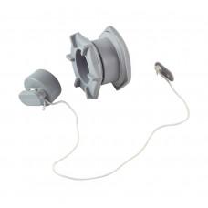 Клапан сливной для лодки ПВХ h24мм, серый