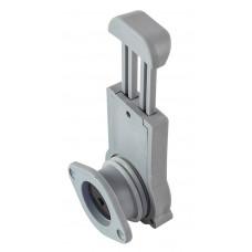 Клапан сливной с затвором для лодки ПВХ h24мм, серый