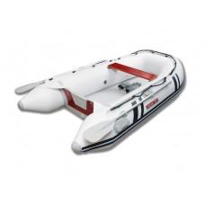 Лодка надувная ПВХ Suzumar DS265KIB, белая, пол надувной высокого давления