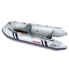 Лодка надувная ПВХ Suzumar DS290AL, белая, пол алюминиевый