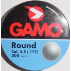 Round cal.4,5, пули пневматические 250шт./уп., вес пули 0,53 г. 632-0324