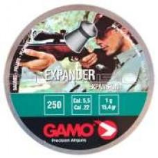 Expander cal.5,5, пули пневматические, 250шт./уп., вес пули 0,51 г. 632-2525