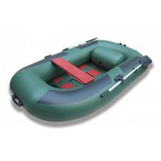 Лодка надувная ПВХ Комфорт 270, зеленая, пол реечный деревянный