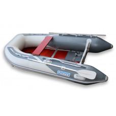Лодка надувная ПВХ Forward MX290FL, серая, пол деревянный