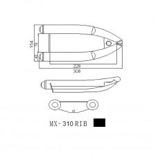 Лодка надувная ПВХ Forward MX310RIB, белая, дно пластиковое