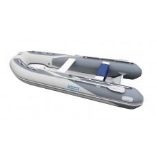Лодка надувная ПВХ Forward MX380RIB, серая, дно пластиковое
