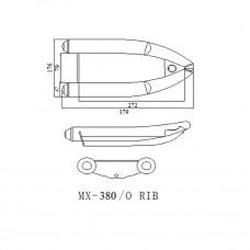 Лодка надувная ПВХ Forward MX380RIB, зеленая, дно пластиковое